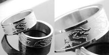 R001S charm men strong dragon stainless steel cool ring you pick size
