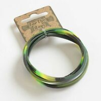 4 x Camouflage Rubber Bracelets - Boys Army Party Loot Bag Fillers Stocking Toys