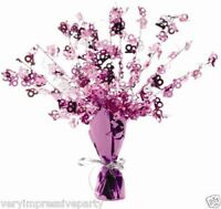 PINK FOIL TABLE CENTREPIECE - 13 16 18 21 30 40 50 60 - PACKET OF 3