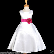 FLOWER GIRL DRESS PAGEANT HOLIDAY WEDDING BRIDESMAID A-LINE 12M 2 4 6 8 10 12 14