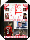 LIVERPOOL STEVEN GERRARD CLOCK PICTURE PERSONALISED WITH NAME OR MESSAGEFREE
