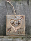 Hand Carved Wooden Gift Wedding Love Heart Bespoke*Personalised Sign/Plaque