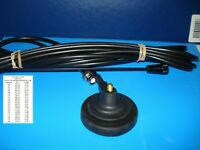 TAXI CAB MAG MOUNT BNC ANTENNA VHF TAXI & MARINE WHIP 60mm base IN BLACK & UHF