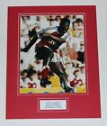 GENUINE KEVIN CAMPBELL IN ARSENAL SHIRT HAND SIGNED PHOTO MOUNT COA