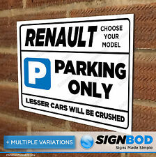 Parking Sign Gift for Renault Owner - Birthday Present for Men or Women