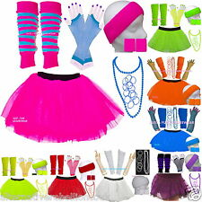 GIRLS  NEON TUTU SKIRT  SET PARTY