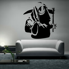 Banksy Wall Decal sticker vinyl street art graffiti bedroom death grim reaper