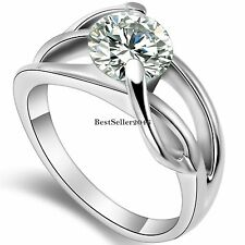 2.0 Ct Round CZ Infinity Love Knot Ladies Womens Stainless Steel Promise Ring