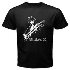 New JIMMY PAGE Led Zeppelin Album Logo ZOSO Men's Black T-Shirt Size S to 3XL