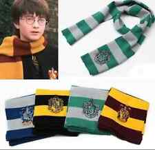 Harry Potter Gryffindor/Slytherin/Ravenclaw House Knit Stripe Scarf Wrap Cosplay