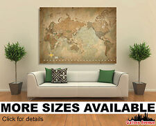 Wall Art Canvas Picture Print - Antique Old Vintage World Map 3.2