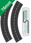 2x Curved 76mm Road to suit 00 Gauge Hornby etc. Self Adhesive Vinyl