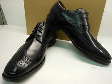 NEW COLE HAAN AIR GIRALDO SLEEK BLACK LEATHER WINGTIPS WITH LEATHER SOLE