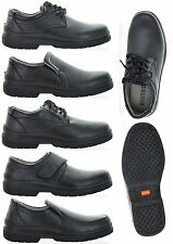 FREE SHIPPING MenS Oil Resistant Anti Slip Cushion Heel Support Restaurant Shoes