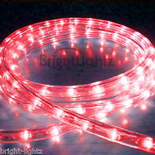 RED LED ROPE LIGHT OUTDOOR LIGHTS CHASING STATIC CHRISTMAS XMAS GARDENS HOMES UK
