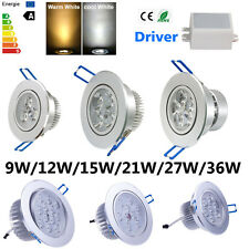 Dimmable 36W 27W 21W 15W 12W 9W CREE LED Recessed Downlight Lamp Ceiling Fixture