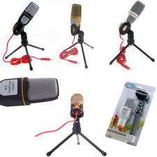 Condenser Microphone Cardioid Audio Studio Vocal Recording Mic with desk tripod