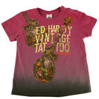 Ed Hardy T Shirt Toddler Kids 3T Rare Vintage Tattoo Collage Guitar T Shirt New
