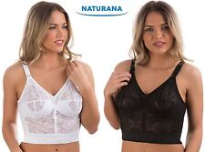 Naturana 8000 shapewear Lace lightly boned long line non underwired bra 36-48DD