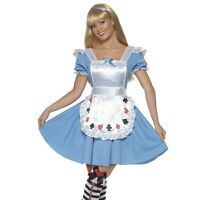 Ladies Deck of Cards Alice in Wonderland Fancy Dress Costume Womens Outfit New