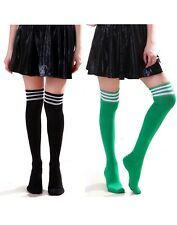2 Pack Women's Over-Knee Thigh High Athletic Soccer Sports Fashion Tube Socks