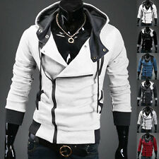 New Men's Fashion Slim Fit Long Sleeve Casual Hooded Hoodies Coat Outwear Jacket