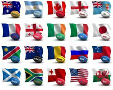 *** SALE 80% OFF *** RUGBY WORLD CUP FABRIC BUNTING  MEDIUM & LARGE FLAGS