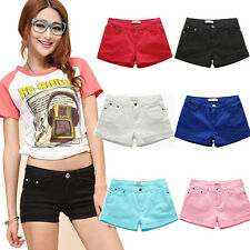 2015 Fashion Women's Casual Candy Colour Shorts Short Jeans Pants Candy Colour