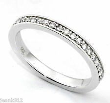 Diamond Wedding Ring Band 0.23 Carats Womens 14K White Gold Classic Traditional