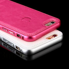 New !Luxury Aircraft Aluminum+Leather Phone Case Cover for iPhone5 iPhone 6/Plus