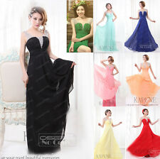 New Formal Long Evening Ball Gown Party Prom Bridesmaid Dress Size 6.8.10.12.14