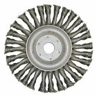 Round Brush D 115 x 22,23 x 0,5 Steel wire knotted , Angle grinder brush