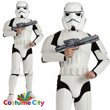 Mens Official Deluxe Star Wars Stormtrooper Fancy Dress Party Costume