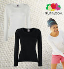 FRUIT OF THE LOOM Lady-Fit Valueweight Long Sleeve T - Damen Langarm T-Shirt