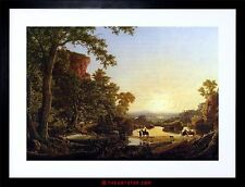 PAINTING CHURCH HOOKER CONVOY PASS WILDERNESS FRAMED PICTURE ART PRINT F97X8292