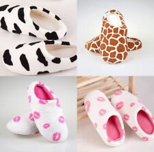 New Couple Lovers Cute Animal Cotton Soft Warm Slippers Winter Indoor Home Shoes