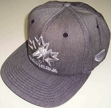 OLD TIME HOCKEY NHL TEAM CANADA BROOZER FLATBRIM FLEXFIT GRAY HAT CAP NEW