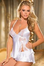 Shirley of Hollywood White Satin Cami & Tap Pant 25400 White
