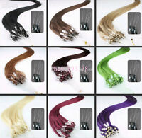 "New 20""-26"" Micro Loop Ring Tips Remy Human Hair Extensions More Colors 50g-100g"