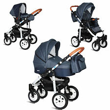 MY JUNIOR® MIYO KOMBI KINDERWAGEN 3-IN-1- 12 TEILE-SET +BUGGY & BABYSCHALE