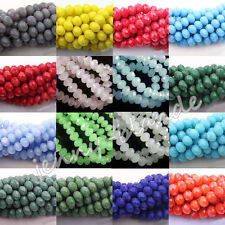 50-200 Czech Glass Faceted Rondelle Loose Spacer Bead Charms Finding 4/6/8/10mm