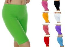 Womens Summer Shorts Dance Cycling Cotton Leggings UK 6-26