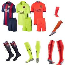 2014-2015 Football Soccer Kits Short Sleeve Kids boy Youth 3-14Y Team Suit+Socks