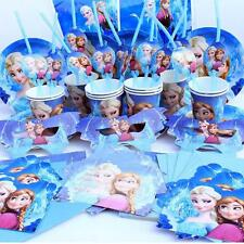 Frozen Kids Birthday Large Party Sets for 6 12 18 24 30 Elsa Girls Princess Blue