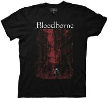 Bloodborne Red City Background Adult T Shirt  Video Game Playstation