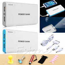 50000mah External Power Bank Backup Dual USB Battery Charger For Cell Phone Blue