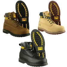"Mens Caterpillar Holton Steel Toe Cap Safety Boots CAT 6"" Work Boots Size 6-13"