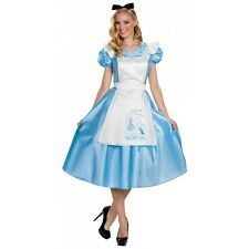 Deluxe Alice Costume Adult Alice In Wonderland Halloween Fancy Dress