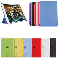 Luxury Transparent Back Leather Smart Case Cover For iPad Air iPad Mini iPad2 4