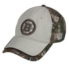 Old Time Hockey Boston Bruins Mens Realtree Adjustable Cap - One Size